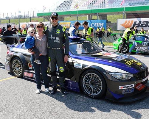 blue black car circuit race